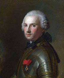 Portrait of a Man in Armour, c.1750 by Jean-Marc Nattier | Painting Reproduction