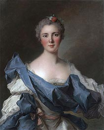 Portrait of the Comtesse d'Andlau, 1743 by Jean-Marc Nattier | Painting Reproduction