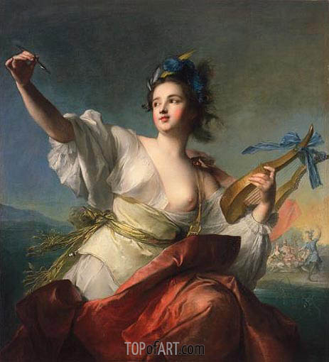Terpsichore, Muse of Music and Dance, c.1739 | Jean-Marc Nattier | Painting Reproduction