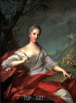 Madame Boudrey as a Muse, 1752 | Jean-Marc Nattier | Painting Reproduction
