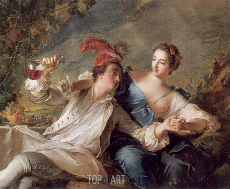 The Alliance of Love and Wine, 1744 | Jean-Marc Nattier | Gemälde Reproduktion