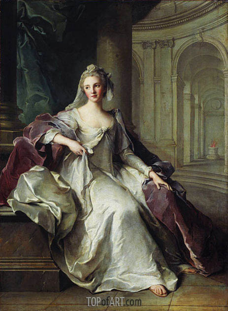 Portrait of Madame Henriette de France as a Vestal Virgin, c.1749 | Jean-Marc Nattier | Gemälde Reproduktion