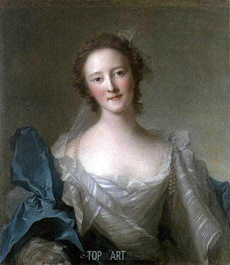 Portrait of Madame de Crozat de Thier, undated | Jean-Marc Nattier | Painting Reproduction