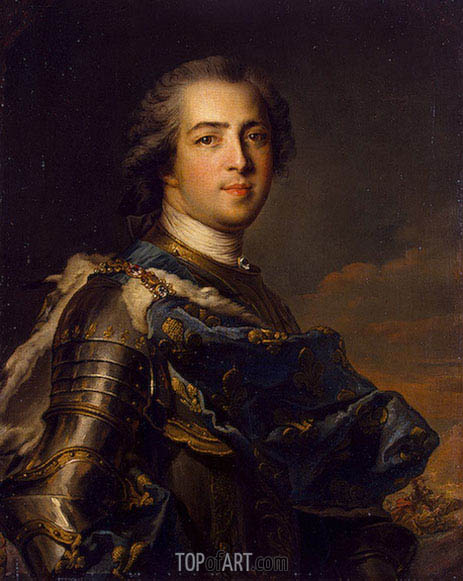Portrait of Louis XV of France, 1745 | Jean-Marc Nattier | Painting Reproduction