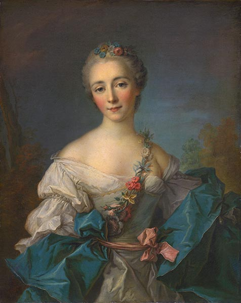 Portrait of a Lady, c.1750/60 | Jean-Marc Nattier | Painting Reproduction
