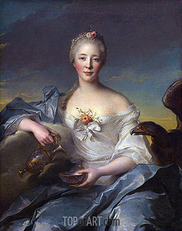 Madame de Caumartin as Hebe, 1753 | Jean-Marc Nattier | Painting Reproduction