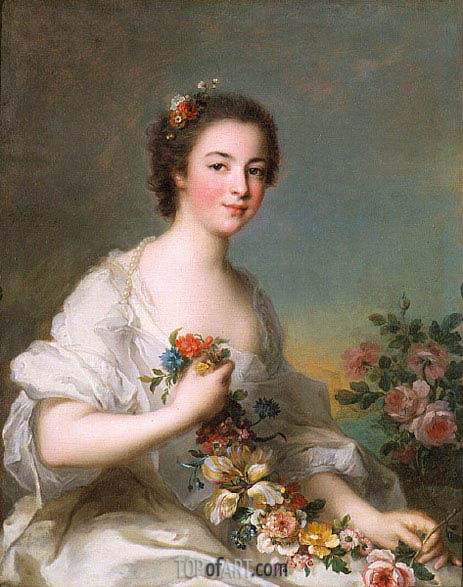 Portrait of a Lady, 1738 | Jean-Marc Nattier | Gemälde Reproduktion