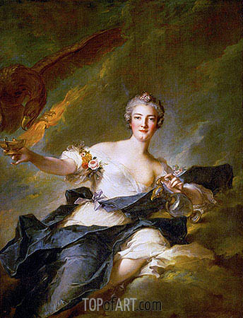 The Duchess of Chaulnes as Hebe, 1744 | Jean-Marc Nattier | Gemälde Reproduktion