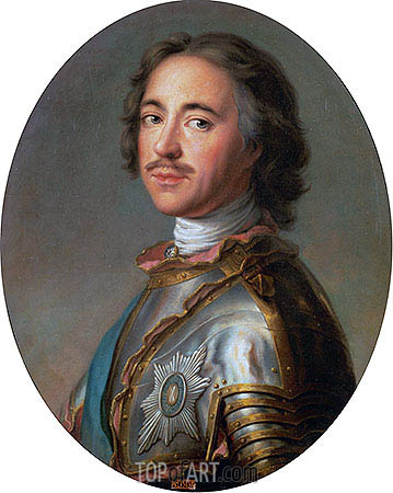 Czar Peter the Great, 1725 | Jean-Marc Nattier | Gemälde Reproduktion