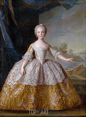 Isabelle of Parma as a Child, 1749 | Jean-Marc Nattier | Gemälde Reproduktion