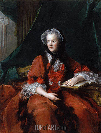 Marie Leczinska, Queen of France, 1748 | Jean-Marc Nattier | Painting Reproduction