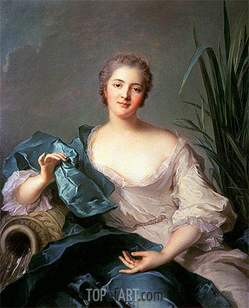 Madame Marie-Henriette Berthelot de Pleneuf, 1739 | Jean-Marc Nattier | Painting Reproduction