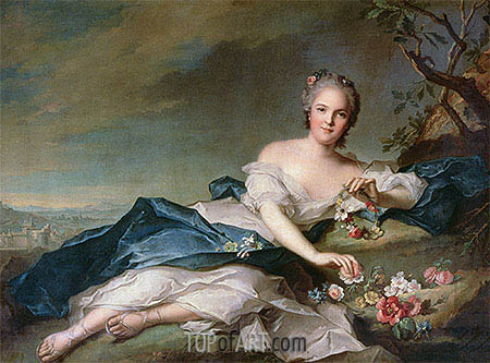 Henrietta Maria of France as Flora, 1742 | Jean-Marc Nattier | Painting Reproduction