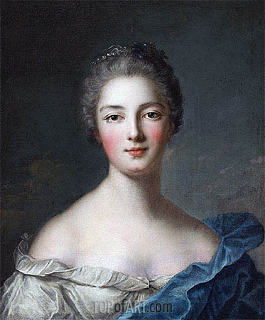 Portrait of a Lady, c.1750 | Jean-Marc Nattier | Gemälde Reproduktion