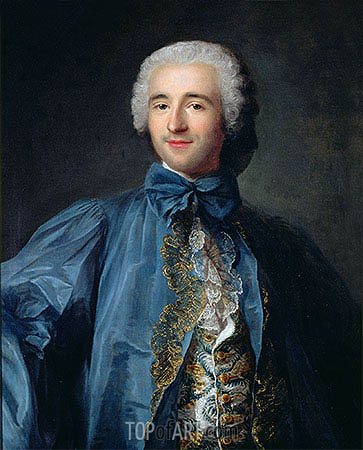 Portrait of a Gentleman in a Blue Coat, undated | Jean-Marc Nattier | Gemälde Reproduktion