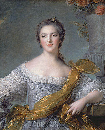 Victoire de France at Fontevrault, 1748 | Jean-Marc Nattier | Gemälde Reproduktion