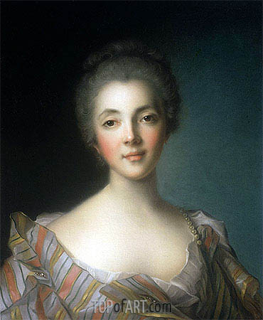 Portrait of Madame Dupin, undated | Jean-Marc Nattier | Gemälde Reproduktion