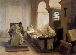 Men of the Holy Office, 1889 by Jean-Paul Laurens | Painting Reproduction