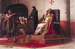 Pope Formosus (816-896) and Pope Stephen VII in 897, 1870 by Jean-Paul Laurens | Painting Reproduction