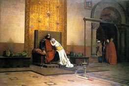 The Excommunication of Robert the Pious | Jean-Paul Laurens | Painting Reproduction
