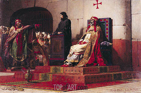 Pope Formosus (816-896) and Pope Stephen VII in 897, 1870 | Jean-Paul Laurens | Painting Reproduction