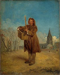 Savoyard with a Marmot, 1716 by Watteau | Painting Reproduction