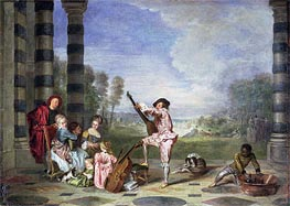 The Music Party (Les charmes de la vie), c.1717/18 by Watteau | Painting Reproduction