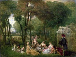 Les Champs Elisees | Watteau | Painting Reproduction