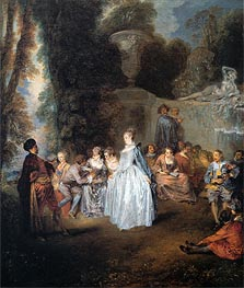 The Venitian Festival | Watteau | Painting Reproduction