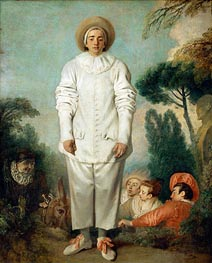 Pierrot (Gilles), c.1718/19 by Watteau | Painting Reproduction