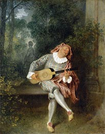 Mezzetin | Watteau | Painting Reproduction