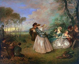 Quadrille (La Contredanse) | Watteau | Painting Reproduction