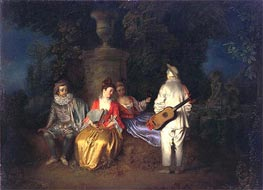 The Foursome (La Partie Quarree) | Watteau | Painting Reproduction