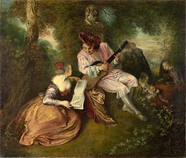 The Scale of Love | Watteau | Painting Reproduction