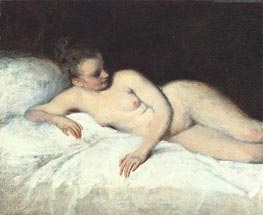 Reclining Nude | Watteau | Painting Reproduction