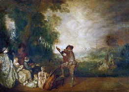 The Concert (The Music Lesson) | Watteau | Painting Reproduction