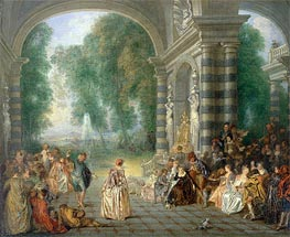 Pleasures of the Ball | Watteau | Painting Reproduction