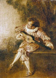 The Serenader (Guitar Player) | Watteau | Painting Reproduction