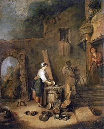 The Cook | Watteau | Painting Reproduction