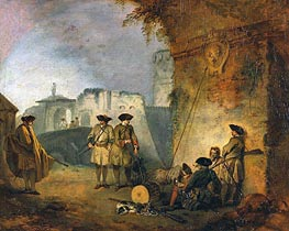 The Portal of Valenciennes | Watteau | Gemälde Reproduktion