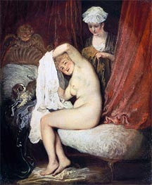 A Lady at her Toilet | Watteau | Gemälde Reproduktion