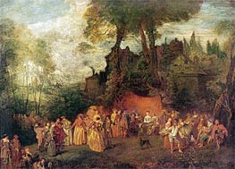 L'Accordee du Village | Watteau | Painting Reproduction