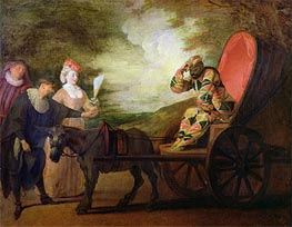 The Harlequin, Emperor of the Moon | Watteau | Painting Reproduction