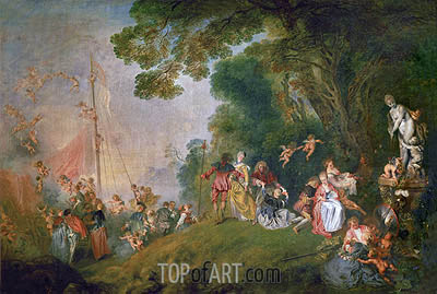 Pilgrimage to Cythera, c.1718/19 | Watteau | Painting Reproduction