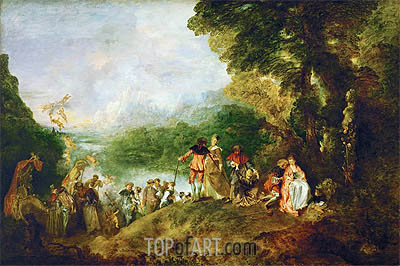 Pilgrimage to Cythera, 1717 | Watteau | Painting Reproduction