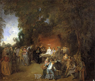 Capitulations of Wedding and Rural Dance, c.1711 | Watteau | Painting Reproduction
