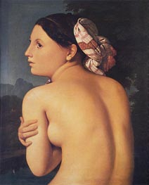 Half-figure of a Bather, 1807 von Ingres | Gemälde-Reproduktion