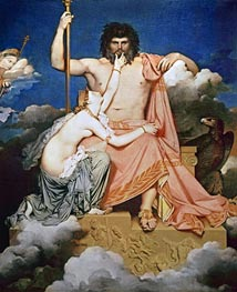 Jupiter and Thetis, 1811 von Ingres | Gemälde-Reproduktion