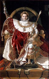 Napoleon I on the Imperial Throne, 1806 von Ingres | Gemälde-Reproduktion