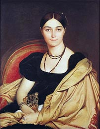 Portrait of Madame Antonia de Vaucay nee de Nittis, 1807 by Ingres | Painting Reproduction